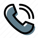 calling, contact phone, phone, phone call, telephone icon