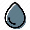 drop, liquid, water, water drop icon