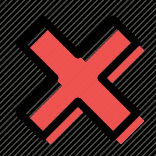 absense, close, cross, delete, failure, lack, remove icon