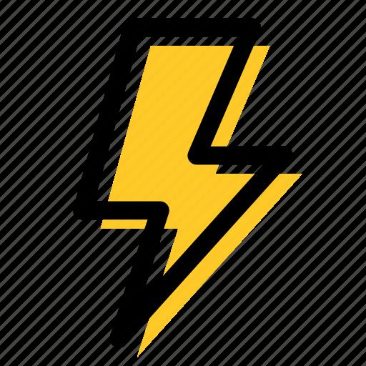 camera flash, electricity, flash, high voltage, lighting bolt, thunder icon