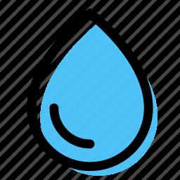 drop, liquid, water, water drop, waterproof icon