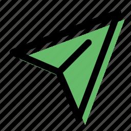 paper plane, plane, send, send message, submit icon
