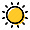 brightness, star, summer, sun, sunny, weather icon