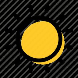brightness, star, summer, sun, sunny, weather icon