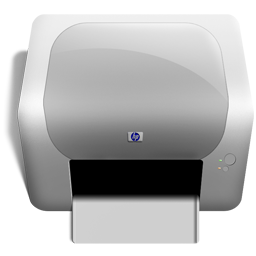 hardware, hewlett-packard, print icon