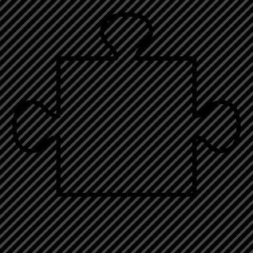 piece, puzzle, puzzle piece, side icon