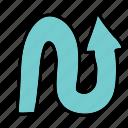 arrow, arrows, direction, down, road, up icon