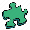 arrows, piece, puzzle icon
