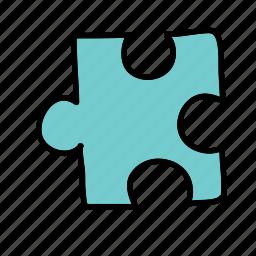 arrows, piece, puzzle icon