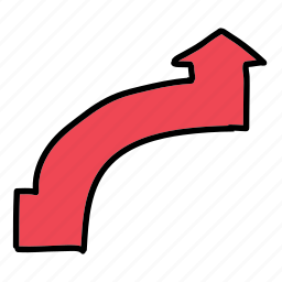 arrow, arrows, circle, direction, quarter, road icon