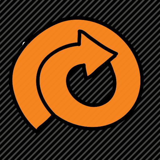 arrow, arrows, circle, direction, road icon