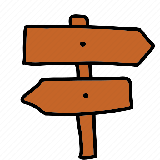 arrows, directions, post, road, street icon