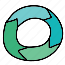 arrows, circle, merging icon