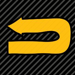 arrow, arrows, direction, road, uturn icon