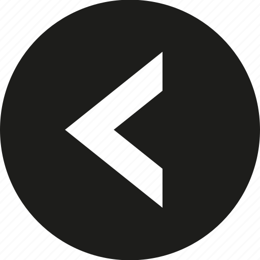 arrow, big, circle, left icon