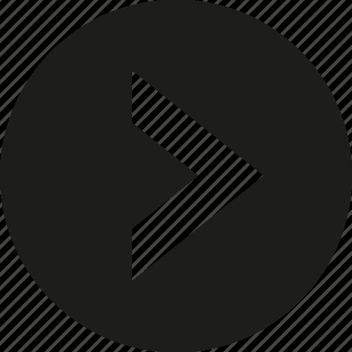 arrow, big, circle, right icon