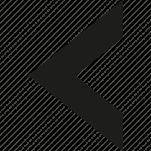 arrow, big, left icon