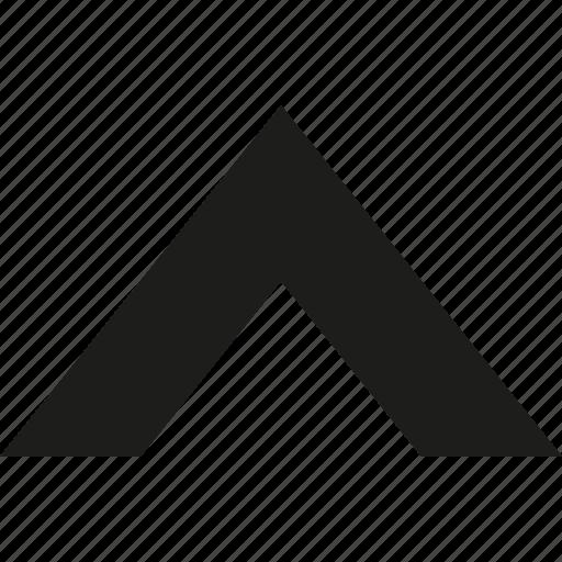 arrow, big, up icon