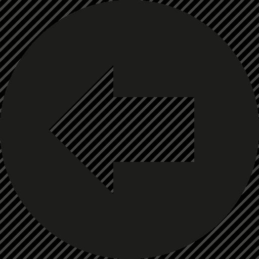 arrow, circle, left icon