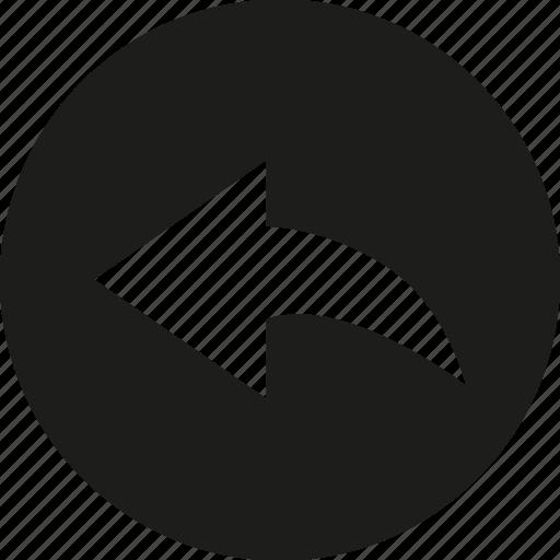 arrow, left, send icon