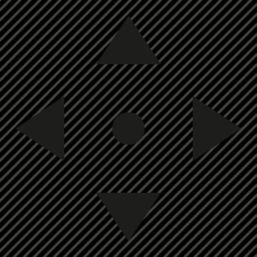 arrow, circle, move icon