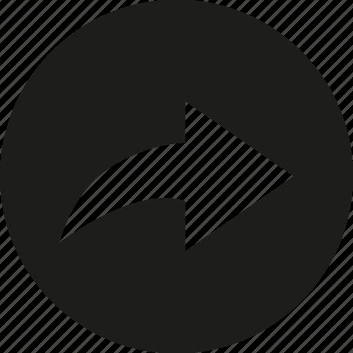 arrow, right, send icon