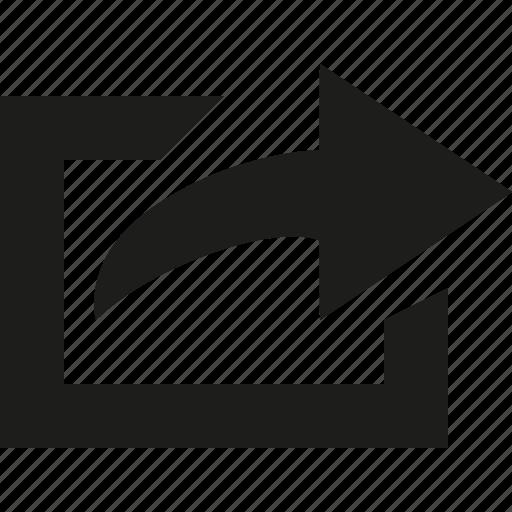 Square, send, arrow icon