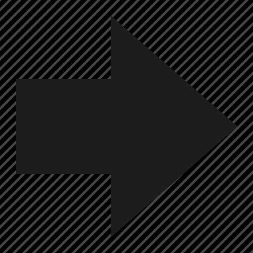arrow, right, signal icon
