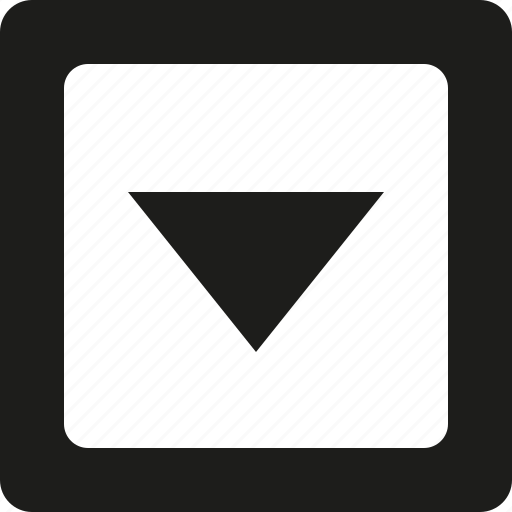 arrow, down, square icon