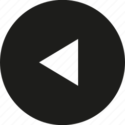 arrow, big, circle, left, tri icon