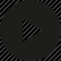 arrow, big, circle, right, tri icon