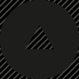 arrow, big, circle, tri, up icon