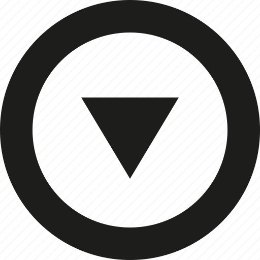 arrow, big, down, tri icon