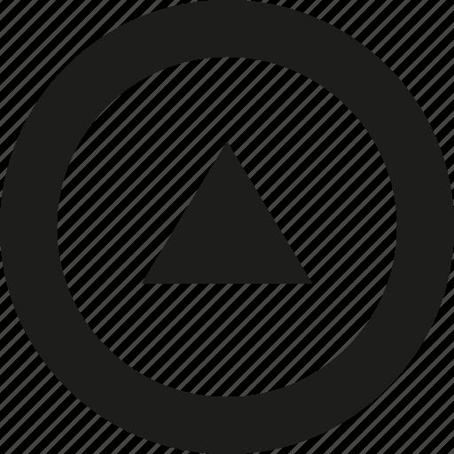 arrow, big, tri, up icon