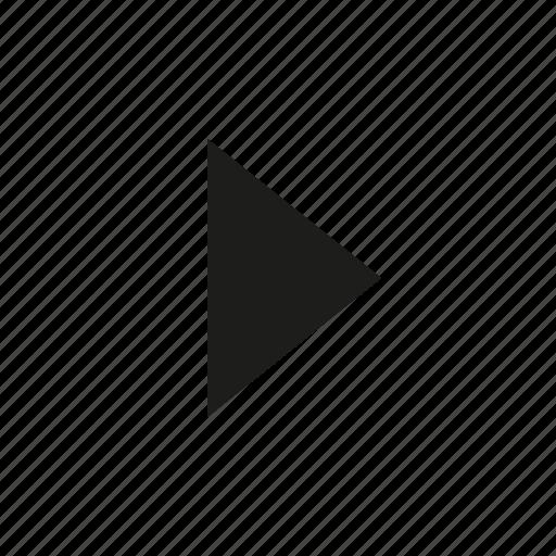 arrow, big, right, tri icon