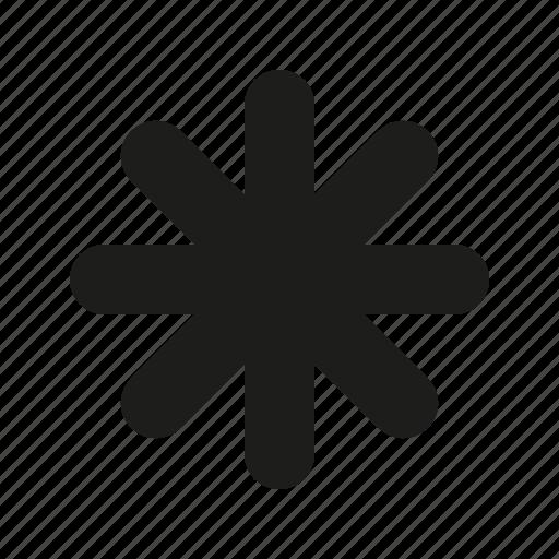 Asterisk, Round Icon-6314
