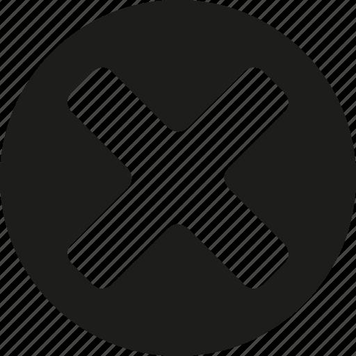 circle, close icon