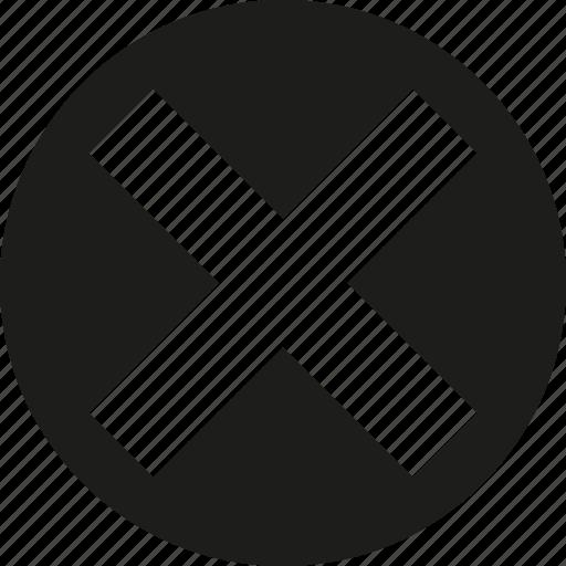 big, circle, close icon