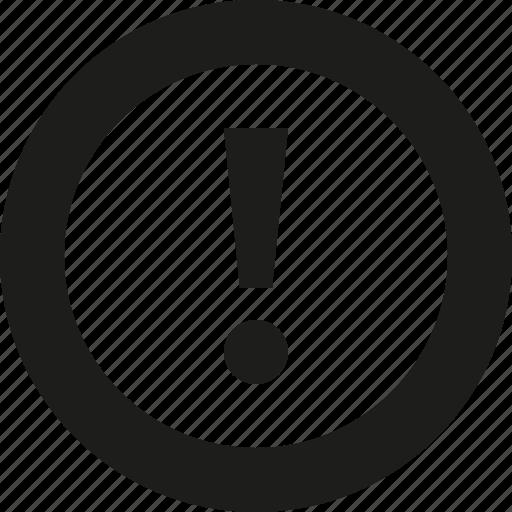 circle, danger icon