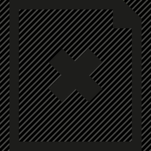 close, document icon