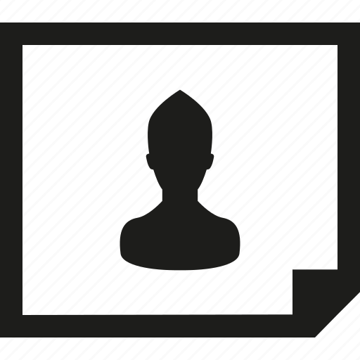 document, horizontal, user icon
