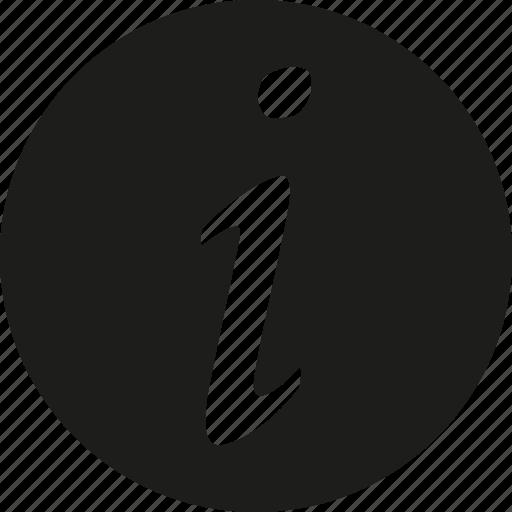 circle, info, italic icon