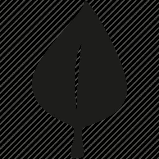 leaf, vertical icon