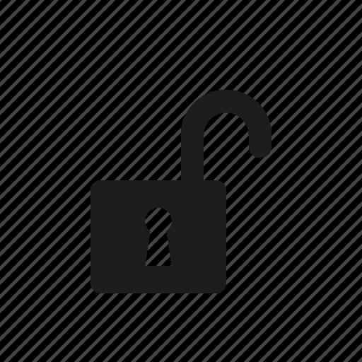key, lock, open icon