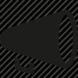 megaphone, round icon