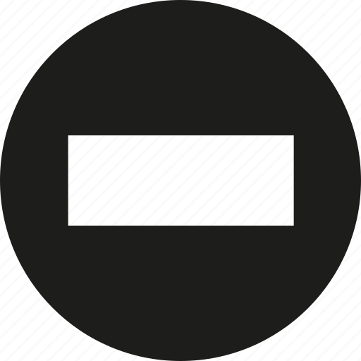 big, circle, minus icon