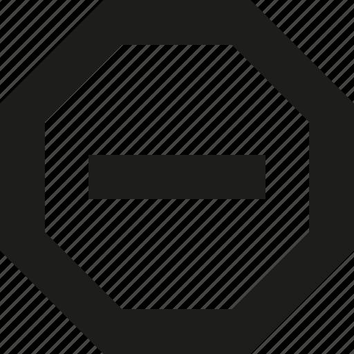 minus, octo icon