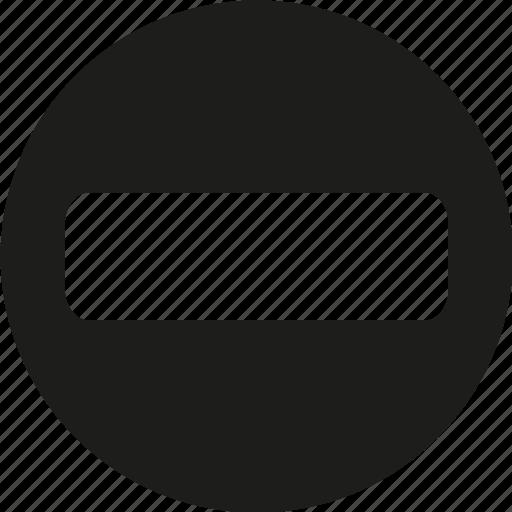 circle, minus, round icon