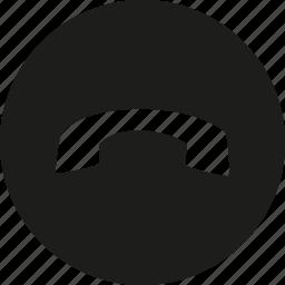 circle, close, phone icon
