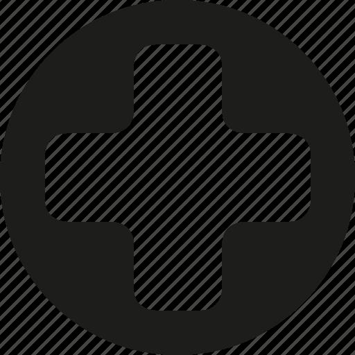 circle, plus, round icon